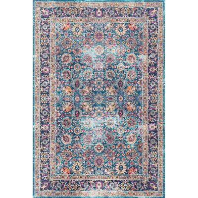 Coppola Blue Area Rug Rug Size: Rectangle 4 x 6
