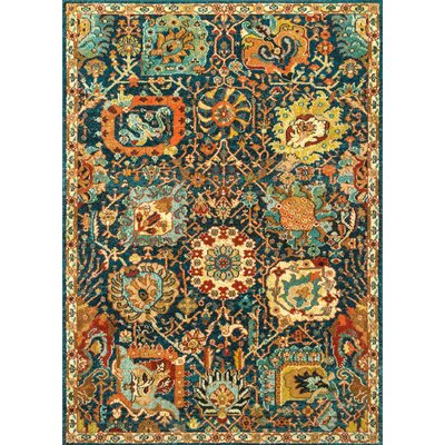 Harlan Blue Area Rug Rug Size: Rectangle 4 x 6