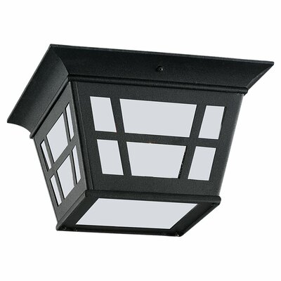 Laurel Flush Mount Shade Type: Etched Glass, Bulb Type: Fluorescent (Energy Star)