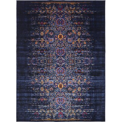 Figueroa Navy Blue/Red Area Rug Rug Size: 5 x 8