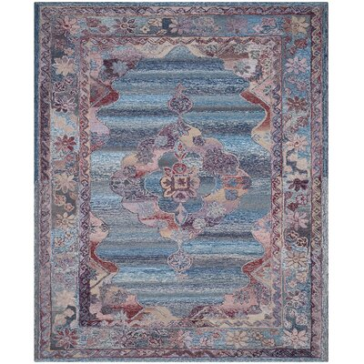 Emily Hand-Tufted Blue Area Rug Rug Size: 8 x 10