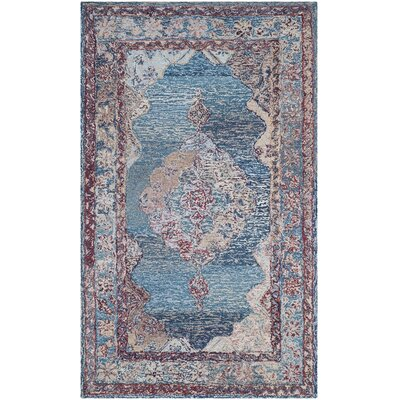 Emily Hand-Tufted Blue Area Rug Rug Size: Rectangle 3 x 5