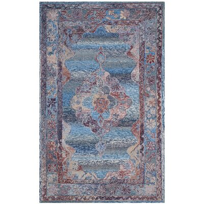 Emily Hand-Tufted Blue Area Rug Rug Size: 6 x 9