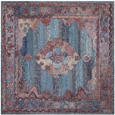 Kokoreta Hand-Tufted Blue Area Rug Rug Size: Square 6