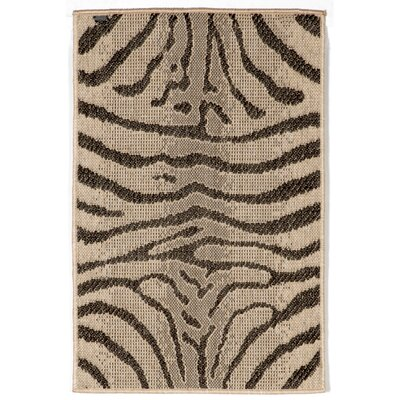 Slimane Charcoal Zebra Indoor/Outdoor Rug Rug Size: 33 x 411