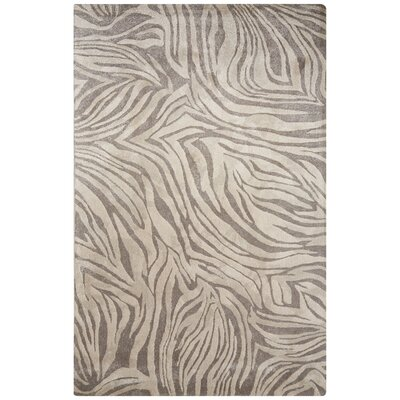 Donquez Hand-Tufted Gray/Ivory Area Rug Rug Size: 2 x 3
