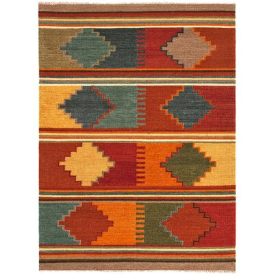 Rubina Red/Multi Area Rug Rug Size: Rectangle 2' x 3'