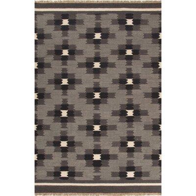 Abelia Gray/Black Area Rug Rug Size: 2 x 3