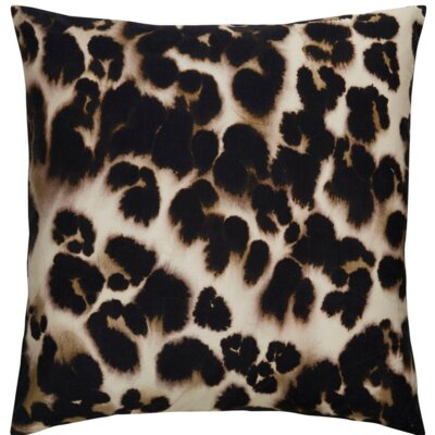 Purti Cheetah Watercolor Square Throw Pillow