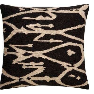 Purti Tribal Pattern Throw Pillow Color: Grey / Ivory