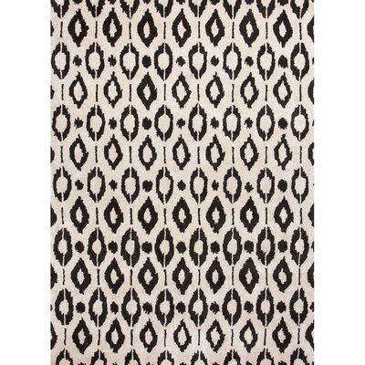Marcella Black & Gray Area Rug Rug Size: 5 x 8