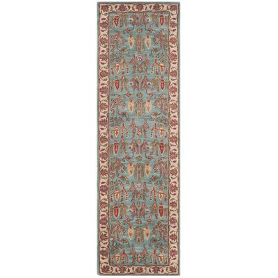 Gideon Hand-Tufted Blue/Ivory Area Rug COLOR: Runner 26 x 6, Rug Size: Runner 26 x 6