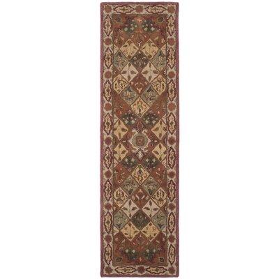 Hesperange Hand-Tufted Rust/Ivory Area Rug Rug Size: Runner 23 x 8