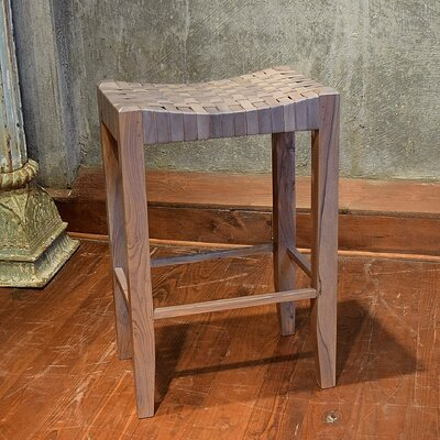 Angelica 30 Bar Stool Upholstery: Grey