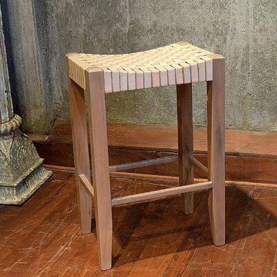 Angelica 30 Bar Stool Upholstery: Ivory