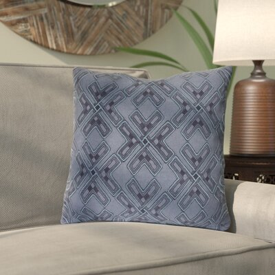 Andre Square Throw Pillow Size: 20 H x 20 W x 4 D, Color: Navy/Aqua