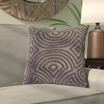 Abbara Linen and Beads Throw Pillow Size: 18 H x 18 W x 4 D