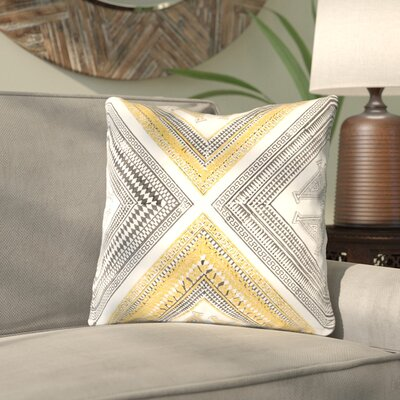 Saba Throw Pillow Size: 20 H x 20 W x 1 D, Color: YellowBrown
