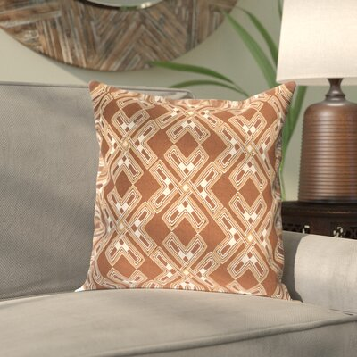 Sykora Pillow Cover Color: Brown, Size: 22 H x 22 W x 1 D