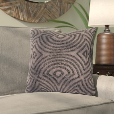 Abbara Linen and Beads Square Throw Pillow Size: 22 H x 22 W x 4 D