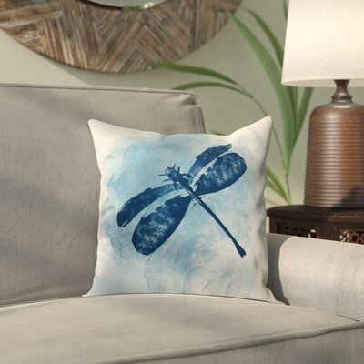 Rafia Dragonfly Summer Throw Pillow Size: 26