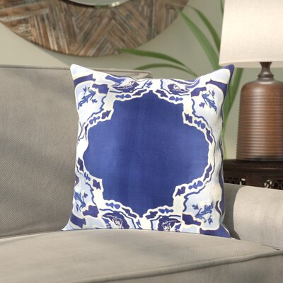Alois 100% Silk Square Throw Pillow Cover Size: 18 H x 18 W x 0.25 D, Color: Blue