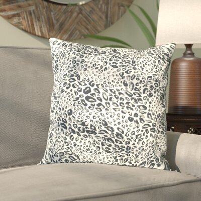 Hollie Leopard Throw Pillow Color: Midnight