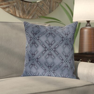 Andre Linen Pillow Cover Size: 18 H x 18 W x 1 D, Color: Blue