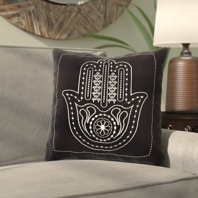 Abtal Cotton Palm of Hamsa Decorative Throw Pillow