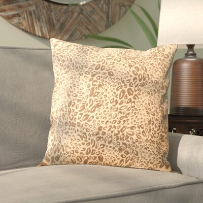 Hollie Leopard Throw Pillow Color: Earth