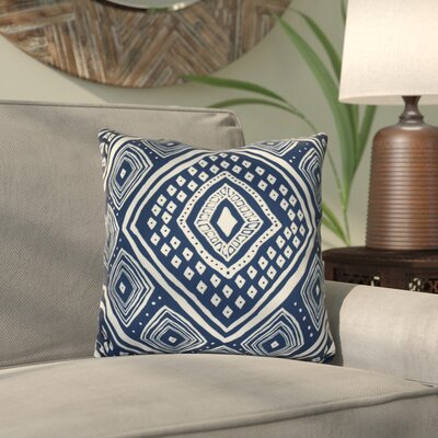 Mercado Outdoor Throw Pillow Color: Navy Blue, Size: 18 H x 18 W x 3 D