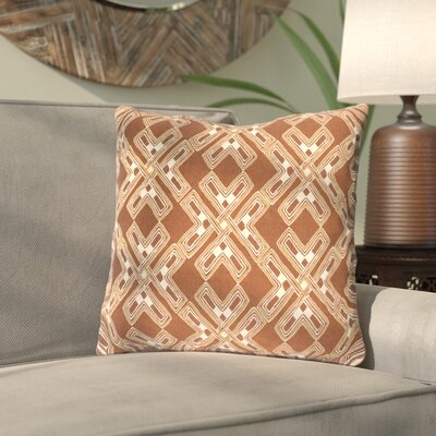 Andre Throw Pillow Size: 18 H x 18 W x 4 D, Color: Camel/Cream