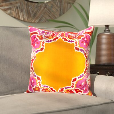 Alois 100% Silk Square Throw Pillow Cover Size: 22 H x 22 W x 0.25 D, Color: OrangeRed