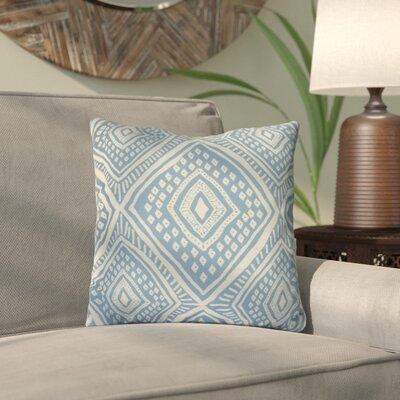 Mercado Outdoor Throw Pillow Color: Light Blue, Size: 18 H x 18 W x 3 D