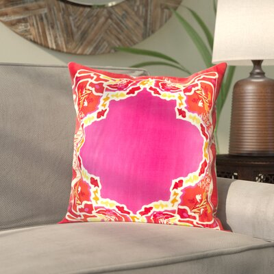 Alois 100% Silk Square Throw Pillow Cover Size: 20 H x 20 W x 1 D, Color: PinkRed