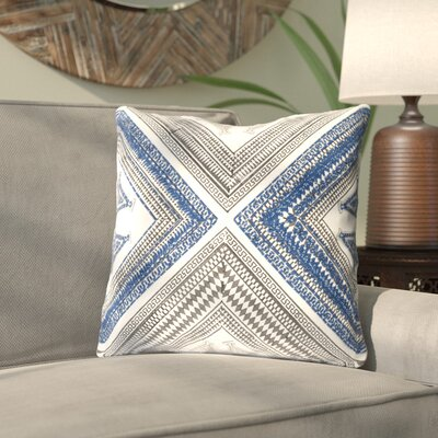 Saba Throw Pillow Color: BlueBrown, Size: 22 H x 22 W x 5 D