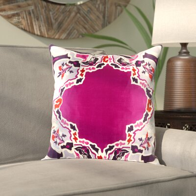 Alois 100% Silk Square Throw Pillow Cover Size: 18 H x 18 W x 0.25 D, Color: PurplePurple