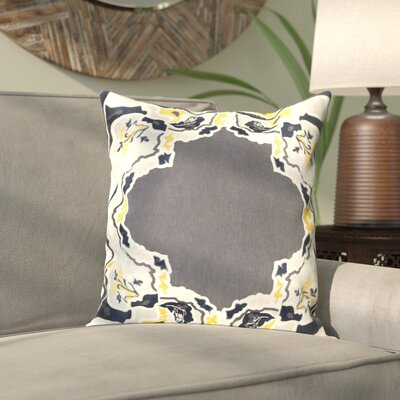 Alois 100% Silk Square Throw Pillow Cover Size: 22 H x 22 W x 0.25 D, Color: BlackBlue