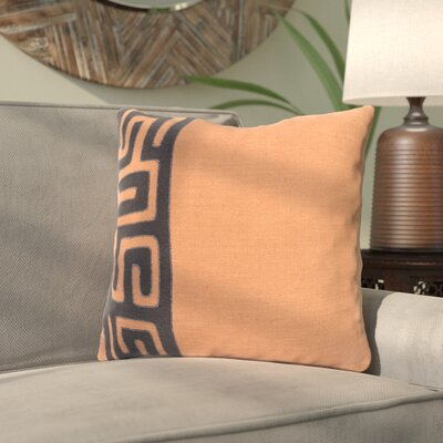 Alona Linen Throw Pillow Size: 22 H x 22 W x 4 D, Color: Rust/Black
