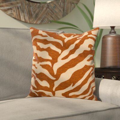 Khaldoun Pillow Cover Size: 18 H x 18 W x 0.25 D, Color: BrownOrange