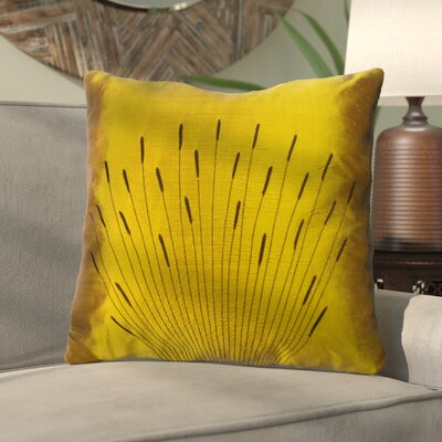 Barahona Silk Throw Pillow Color: Gold