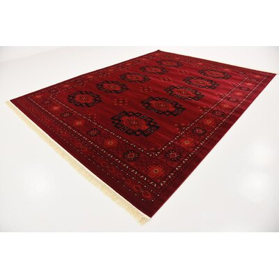 Kowloon Red Area Rug Rug Size: Rectangle 9 x 12