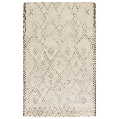 Samara Hand-Tufted Cloud Cream/Chocolate Chip Area Rug Rug Size: Rectangle 2 x 3