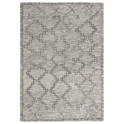 Maiah Hand-Tufted Cloud Cream/Frost Gray Area Rug Rug Size: 8 x 11