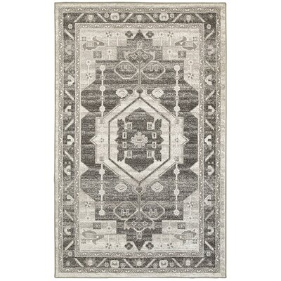 Verina Gray/Taupe Area Rug Rug Size: Runner 21 x 75