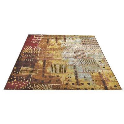 Victoria Brown/Yellow Indoor/Outdoor Area Rug Rug Size: 8 x 114