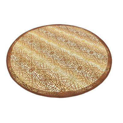 Jamie Beige Indoor/Outdoor Area Rug Rug Size: Round 8