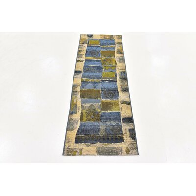 Jamie Blue Indoor/Outdoor Area Rug Rug Size: 8 x 11