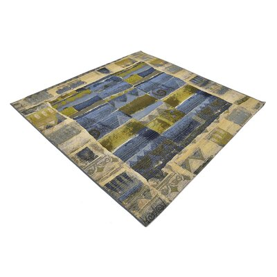Victoria Blue Indoor/Outdoor Area Rug Rug Size: Square 6