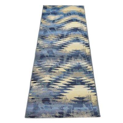 Jamie Blue Abstract Indoor/Outdoor Area Rug Rug Size: Runner 2 x 6
